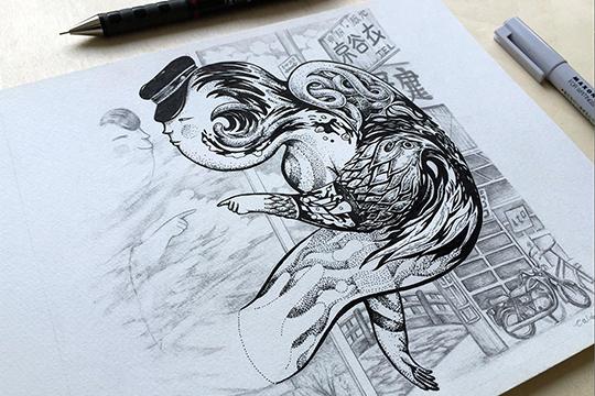 The Drawings of Calvin Ho